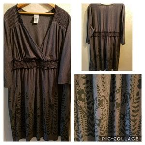 Grey knee length dress 3xl